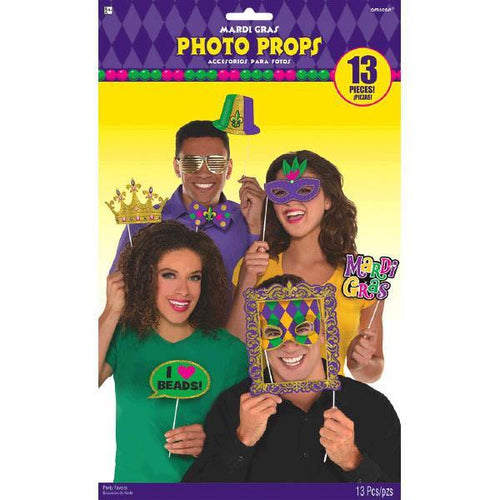 Amscan Mardi Gras Mardi Gras Photo Booth Prop Kit