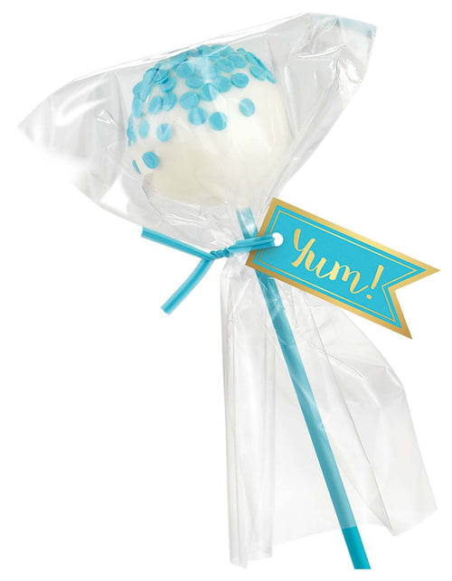 AMSCAN Party Supplies Caribbean Blue Cake Pop Kit for 24