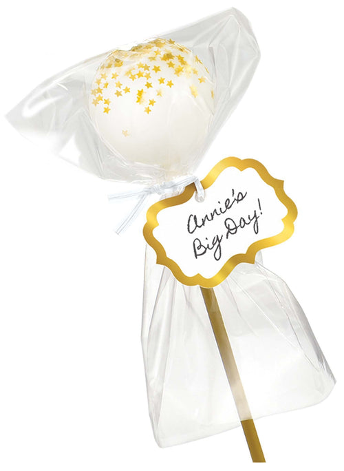 AMSCAN Party Supplies Gold Cake Pop Kit for 24