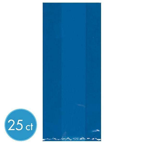 Amscan Party Supplies Medium Blue Plastic Treat Bags 25ct