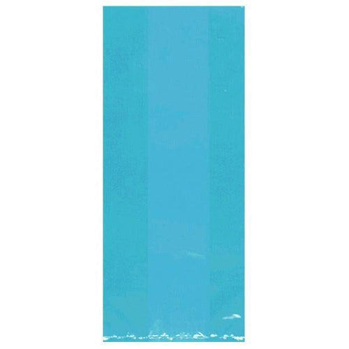 Amscan Party Supplies Medium Caribbean Blue Plastic Treat Bags 25ct