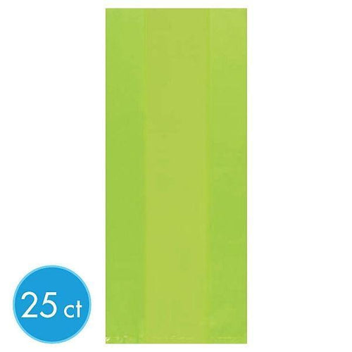 Amscan Party Supplies Medium Kiwi Green Plastic Treat Bags 25ct