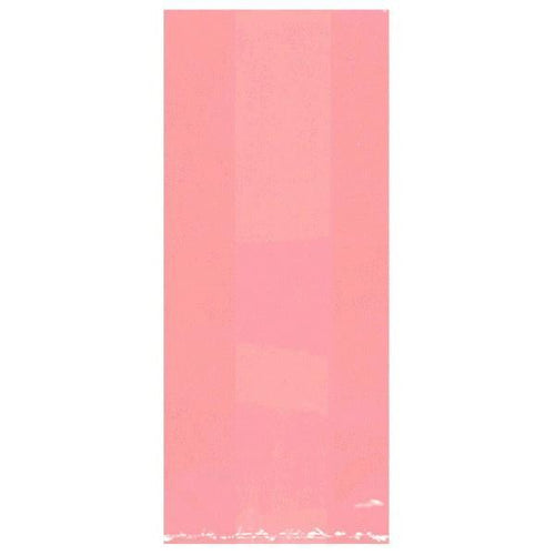 Amscan Party Supplies Medium Pink Plastic Treat Bags 25ct