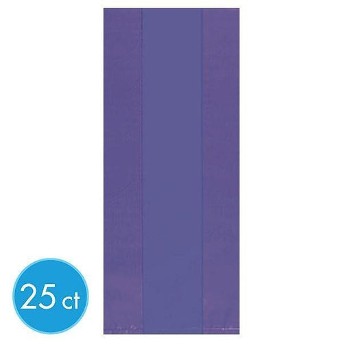 Amscan Party Supplies Medium Purple Plastic Treat Bags 25ct