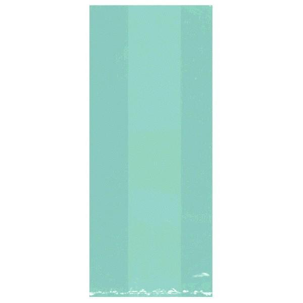 Amscan Party Supplies Medium Robin's Egg Blue Plastic Treat Bags 25ct