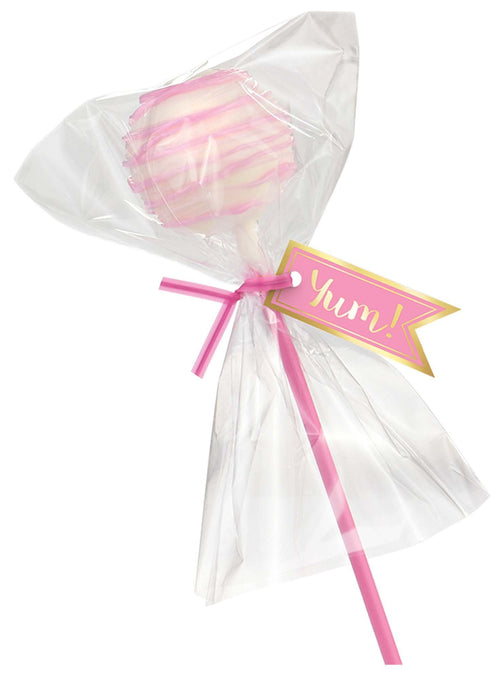 AMSCAN Party Supplies Pink Cake Pops Treat Kit 24pc
