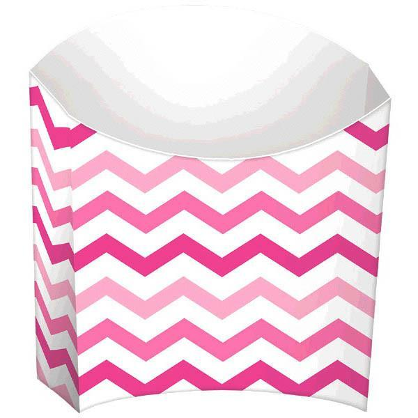 Amscan Party Supplies Pink Chevron French Fry Boxes 24ct