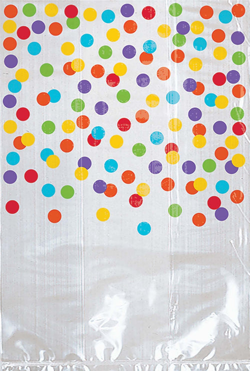 AMSCAN Party Supplies Rainbow Polka Dot Treat Bags 25ct
