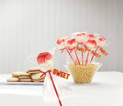 AMSCAN Party Supplies Red Cake Pop Kit for 24