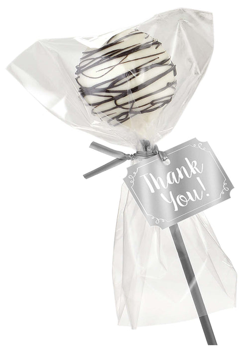 AMSCAN Party Supplies Silver Cake Pop Kit for 24