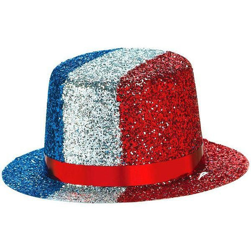 Amscan Patriotic Glitter Patriotic Mini Top Hat