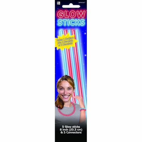 Amscan Patriotic Red & Blue Glow Sticks 5ct