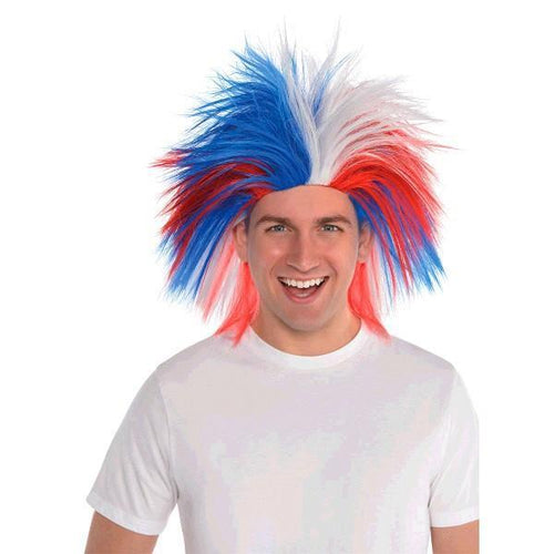 Amscan Patriotic Red, White & Blue Crazy Wig