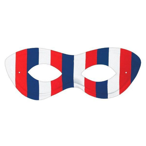 Amscan Patriotic Red, White & Blue Domino Mask