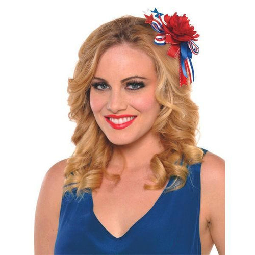 Amscan Patriotic Red, White & Blue Hair Clip