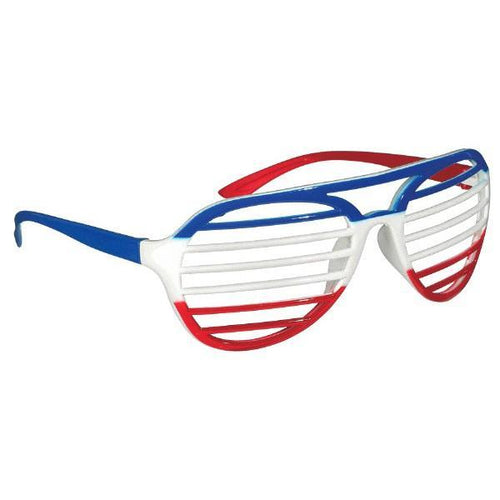 Amscan Patriotic Red, White & Blue Shutter Glasses