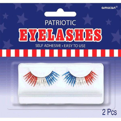Amscan Patriotic Self-Adhesive Patriotic Tinsel False Eyelashes
