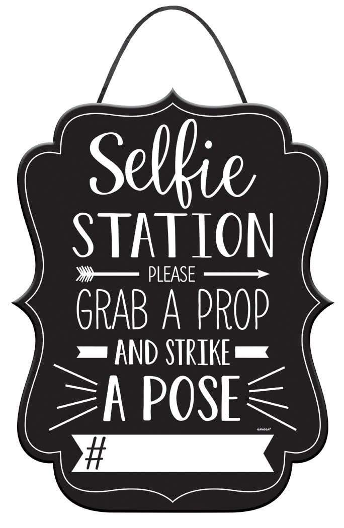 Amscan Photo Booth Selfie Station Photo Booth Sign