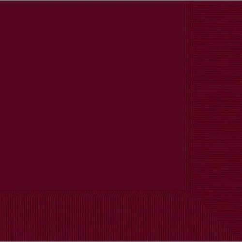 Amscan SOLIDS Berry Beverage Napkins 3Ply 50ct
