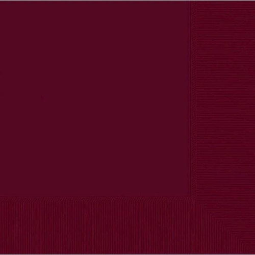 Amscan SOLIDS Berry Lunch Napkins 3Ply 50ct