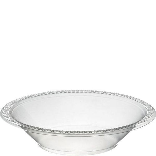 Amscan SOLIDS Clear 12 oz. Plastic Bowls - 20 Count
