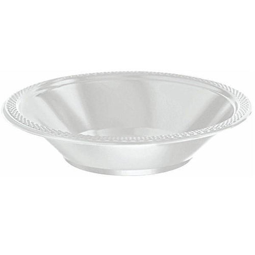Amscan SOLIDS Silver 12 oz. Plastic Bowls - 20 Count