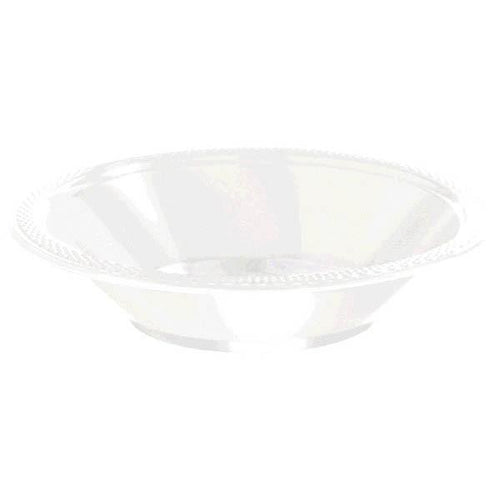 Amscan SOLIDS White 12 oz. Plastic Bowls - 20 Count