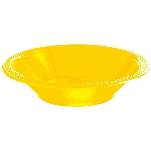 Amscan SOLIDS Yellow Sunshine 12 oz. Plastic Bowls - 20 Count