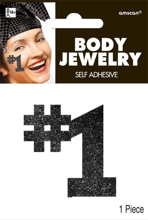 Amscan Spirit Black #1 Body Jewelry
