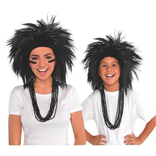Amscan Spirit Black Crazy Wig