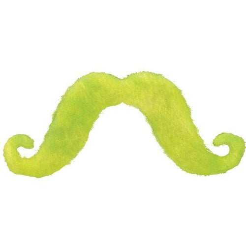 Amscan Spirit Black Light Neon Green Mustache