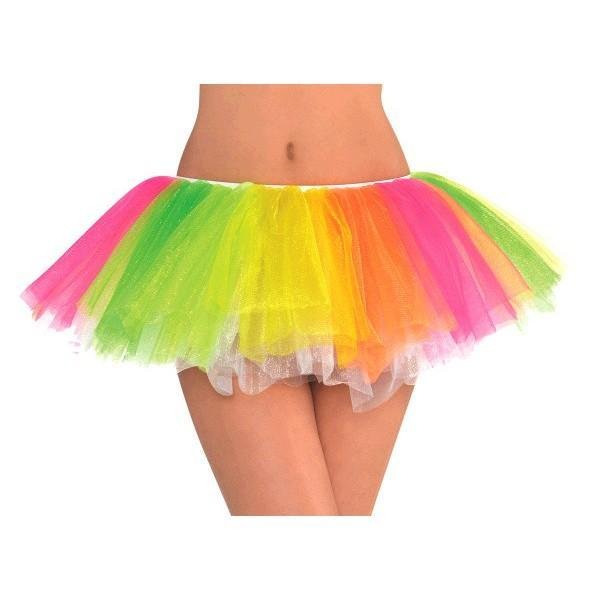 Amscan Spirit Black Light Neon Rainbow Tutu