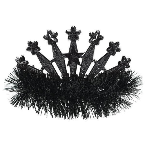 Amscan Spirit Black Star Tinsel Tiara