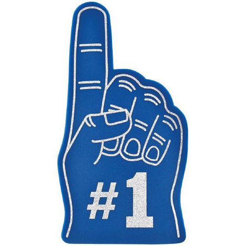 Amscan Spirit Blue #1 Foam Finger
