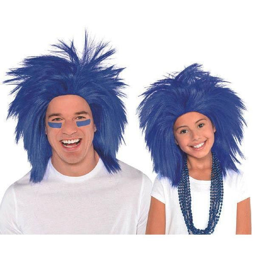 Amscan Spirit Blue Crazy Wig