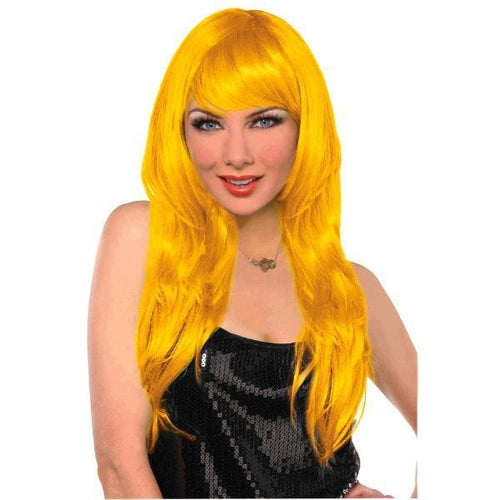 Amscan Spirit Glamorous Long Yellow Wig