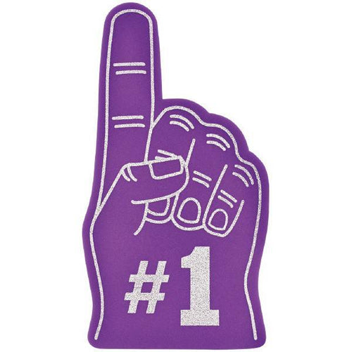 Amscan Spirit Purple #1 Foam Finger