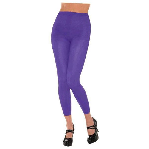 Amscan Spirit Purple Footless Tights