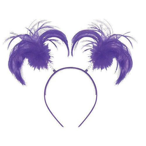 Amscan Spirit Purple Ponytail Head Bopper