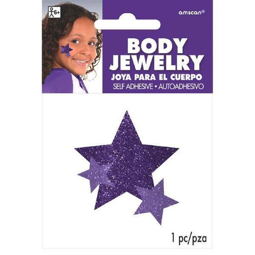 Amscan Spirit Purple Star Body Jewelry