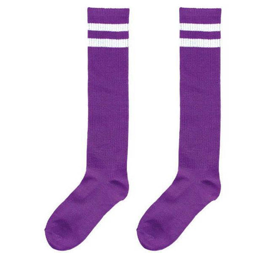 Amscan Spirit Purple Stripe Athletic Knee-High Socks