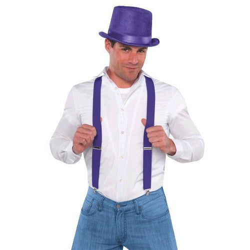 Amscan Spirit Purple Suspenders