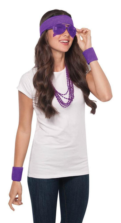 Amscan Spirit Purple Wristband & Headband Set