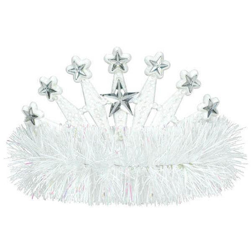 Amscan Spirit White Star Tinsel Tiara