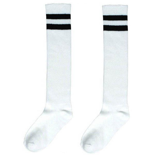 Amscan Spirit White Stripe Athletic Knee-High Socks