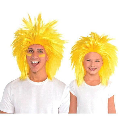 Amscan Spirit Yellow Crazy Wig