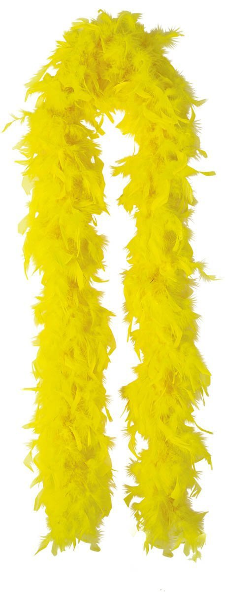 Amscan Spirit Yellow Feather Boa