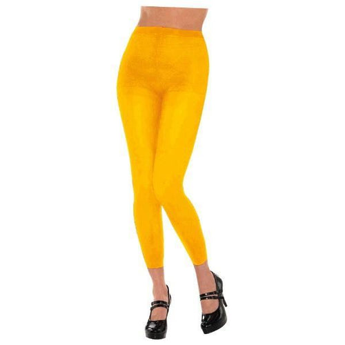 Amscan Spirit Yellow Footless Tights