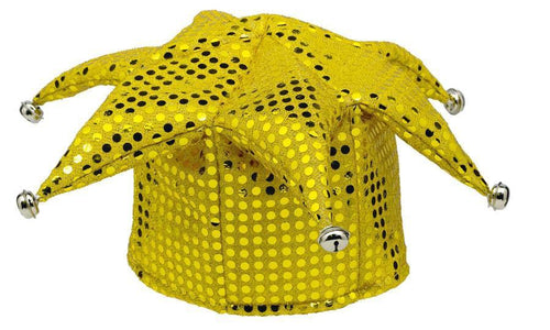 Amscan Spirit Yellow Sequin Jester Hat