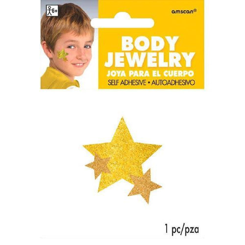 Amscan Spirit Yellow Star Body Jewelry